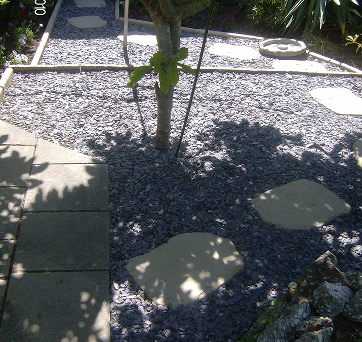 Patio Slate Area