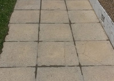 Pressure washed Patio