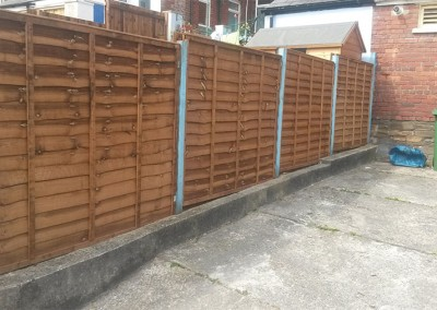 Replacement Fence and Small fence on wall